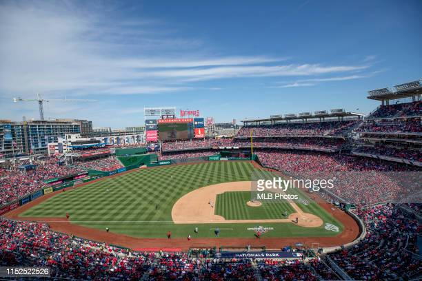General view of Nationals Park during the home opener game between the New York Mets and the Washington Nationals on March 28, 2019 at Nationals...