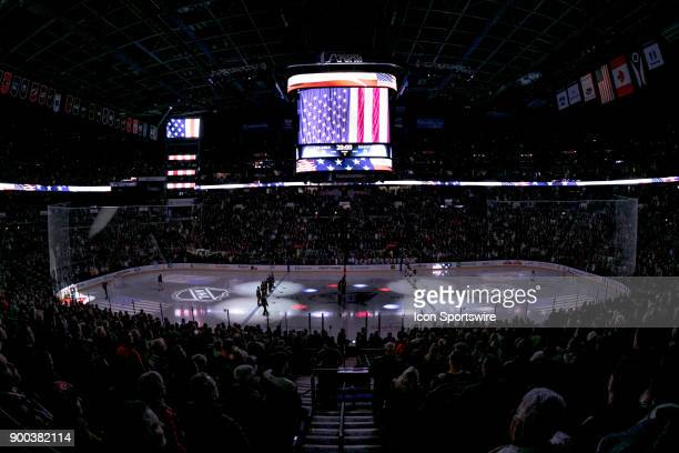 A general view of Nationwide Arena before a game between the Columbus Blue Jackets and the Edmonton Oilers on December 12 2017 at Nationwide Arena in...