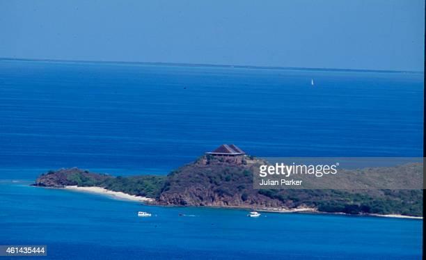 General View of Necker Island on January 9 1989 in Necker Island British Virgin Islands