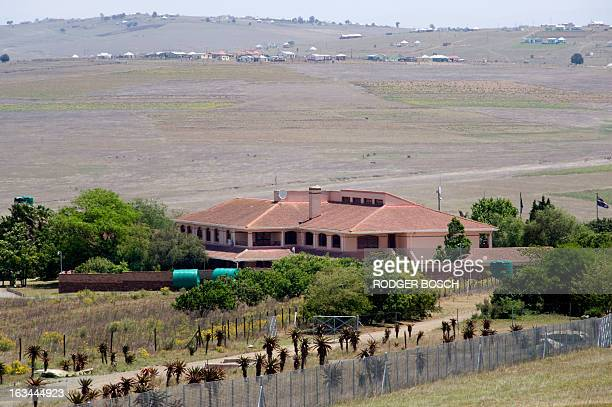 A general view of Nelson Mandela's house in the village of Qunu where the former South African President grew up and has returned for his retirement...