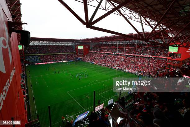 General view of Nemesio Diez Stadium during the Final second leg match between Toluca and Santos Laguna as part of the Torneo Clausura 2018 at...