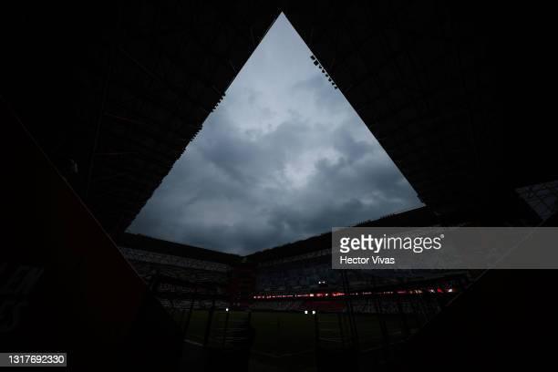 General view of Nemesio Diez stadium prior the quarterfinals first leg match between Toluca and Cruz Azul as part of the Torneo Guard1anes 2021 Liga...