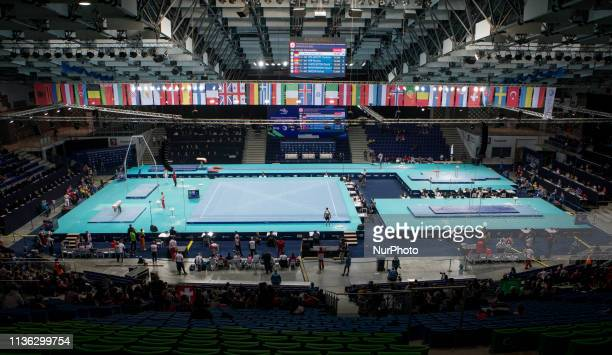 General view of Netto Arena during qualifications at the European Championships Artistic Gymanstics in Szczecin Poland on 10 April 2019 The EC are...