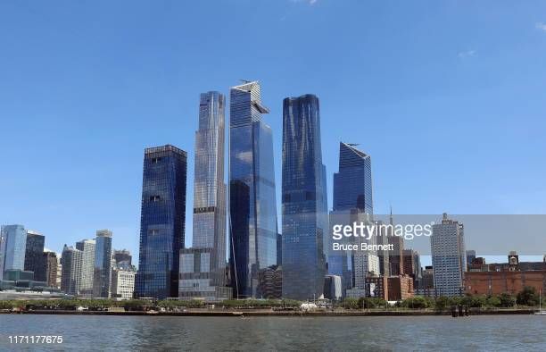 General view of new construction at Hudson Yards on August 29 2019 in New York City