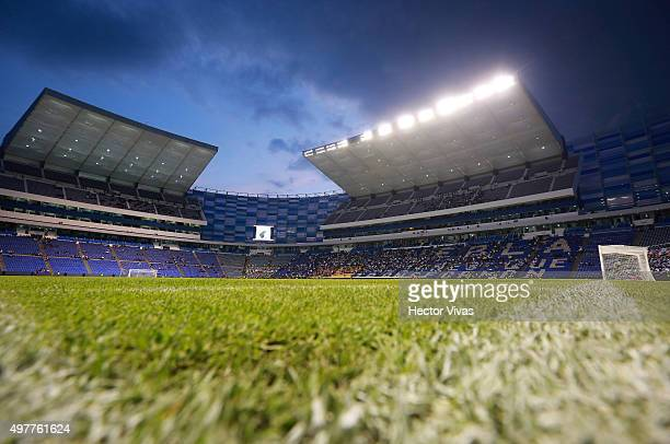 General view of new Cuauhtemoc Stadium prior the friendly match between Mexico's Puebla and Argenitna's Boca Juniors at Cuauhtemoc Stadium on...