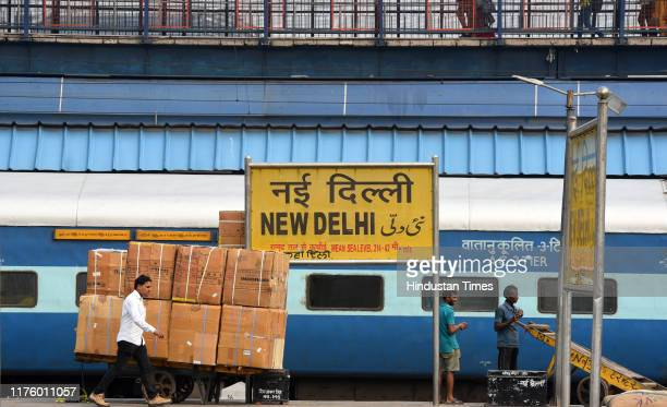 General view of New Delhi Railway Station on October 15, 2019 in New Delhi, India. Sewa Service Trains will connect small towns to major cities. Of...
