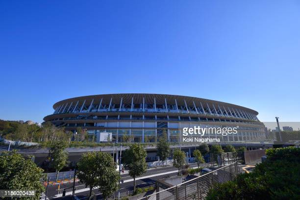 General view of New International stadium on day one of the ITTF Team World Cup, Tokyo 2020 Test Event at the Tokyo Metropolitan Gymnasium on...