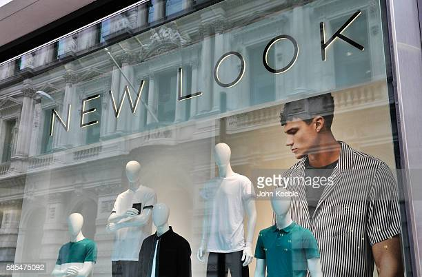 A general view of New Look signage and shop front window on July 28 2016 in London England