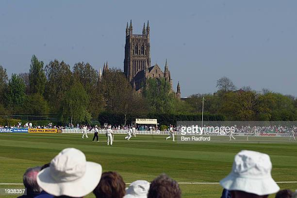 A general view of New Road Cricket Ground during the Frizzel County Championship match between Worcestershire and Hampshire at New Road on April 18...