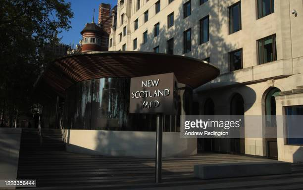 General view of New Scotland Yard on May 07, 2020 in London, England. The UK is continuing with quarantine measures intended to curb the spread of...