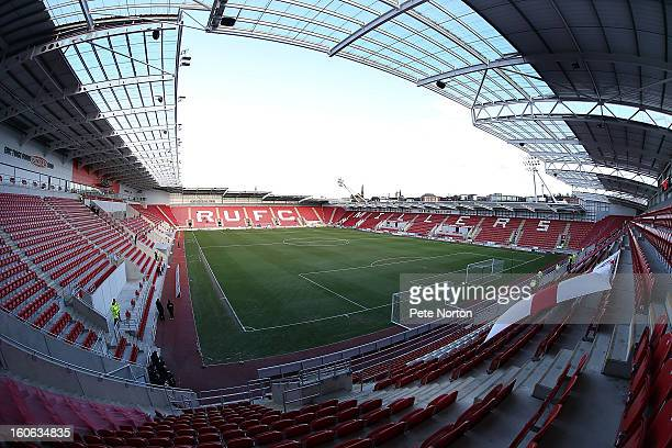A general view of New York Stadium prior to the npower League Two match between Rotherham United and Northampton Town at New York Stadium on February...
