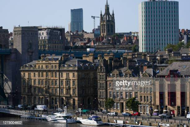 General view of Newcastle on September 17 2020 in Newcastle upon Tyne England Almost two million people in northeast England will be banned from...
