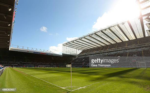General view of Newcastle United's St James Park Stadium during the Barclays Premier League fixture between Newcastle United and Swansea City at St...