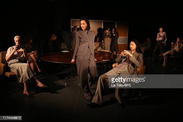 General view of Newgen One To Watch: Efftychia during London Fashion Week September 2019 at the BFC Designer Showrooms on September 13, 2019 in...