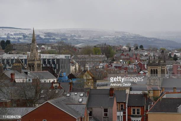 General view of Newport town center on April 04 2019 in Newport Wales The Newport West Byelection is being held following the death of Labour's Paul...