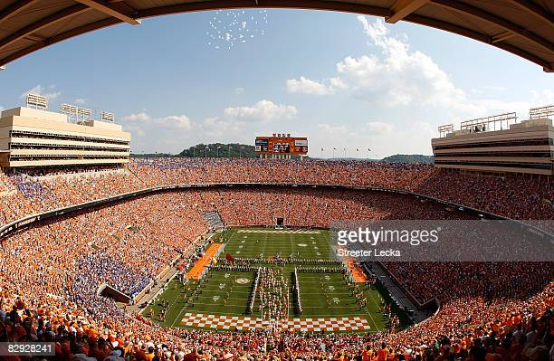 A general view of Neyland Stadium before the start of the Florida Gators versus Tennessee Volunteers on September 20 2008 in Knoxville Tennessee