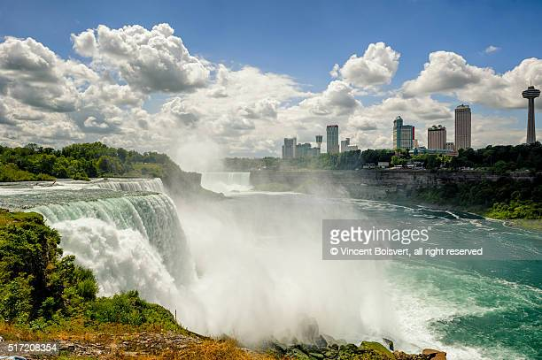 a general view of niagara falls area, from the us side - niagara falls stock pictures, royalty-free photos & images