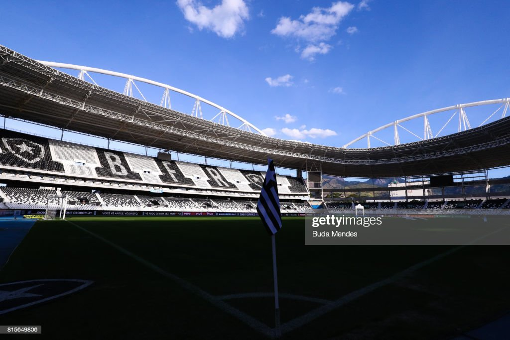 General view of Nilton Santos stadium before a match between Vasco da Gama and Santos as part of Brasileirao Series A 2017 on July 16, 2017 in Rio de Janeiro, Brazil. The match is held with the gates closed for fans, because of punishment imposed on Vasco da Gama's team.