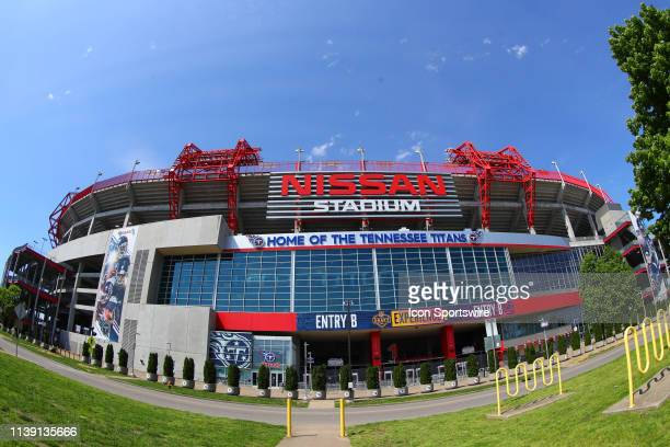 General View of Nissan Stadium prior to the 2019 National Football League Draft on the Draft Main Stage at First and Broadway on April 24 2019 in...