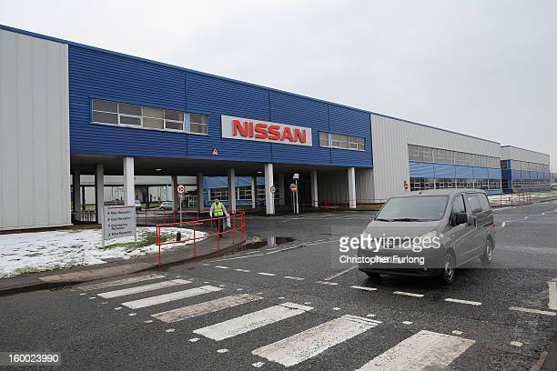 A general view of Nissan's Sunderland production plant on January 24 2013 in Sunderland England The Japanese manufacturer's factory employs 6225...