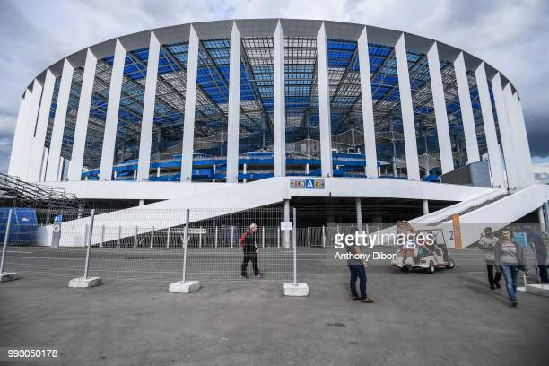 General view of Niyhny Novgorod Stadium during 2018 FIFA World Cup Quarter Final match between France and Uruguay at Nizhniy Novgorod Stadium on July...