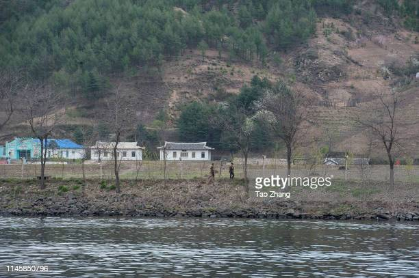 A general view of North Korean buildings and houses on April 29 2019 in Qingcheng North KoreaThe leader of the Democratic People's Republic of Korea...