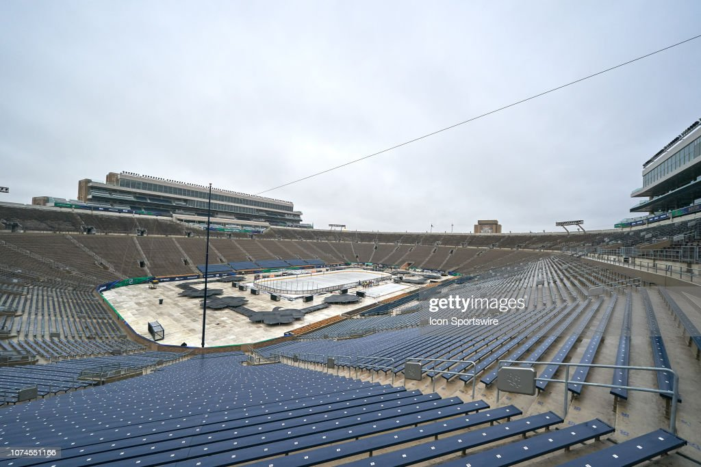 NHL: DEC 21 Winter Classic - Notre Dame Stadium Preview : News Photo