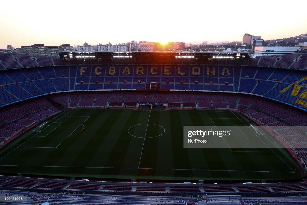 Sunset Of Nou Camp Stadium : News Photo