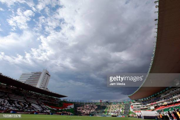 General view of Nou Camp Stadium during the 6th round match between Leon and America as part of the Torneo Apertura 2018 Liga MX at Leon Stadium on...