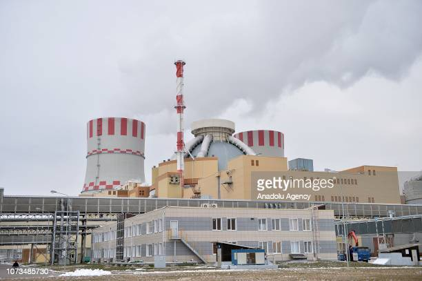 General view of Novovoronezh Nuclear Power Plant II which is currently under construction in Novovoronezh Voronezh Oblast Russia on November 27 2018...