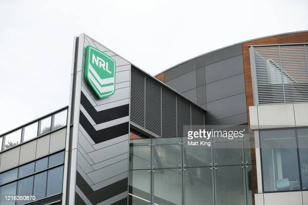 General view of NRL headquarters next to the Sydney Football Stadium redevelopment site on April 02, 2020 in Sydney, Australia. Sport and events held...