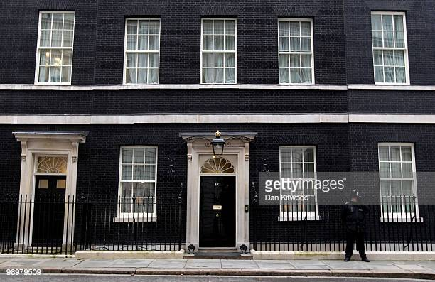 General view of number 10 Downing Street on February 23, 2010 in London, England. As the UK gears up for one of the most hotly contested general...