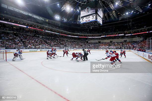 A general view of O2 Arena Prague during the 2016 World Cup of Hockey preparation match between Czech Republic and Russia on September 10 2016 in...