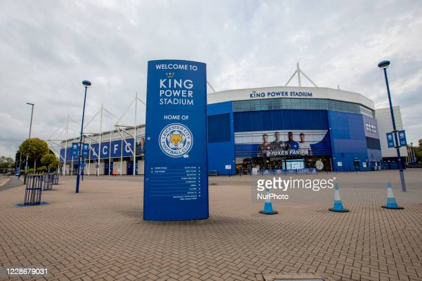 General View of of the King Power Stadium before tonights Carabao Cup match between Leicester City and Arsenal at the King Power Stadium Leicester...