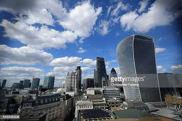 A general view of office buildings in The City of London including the Walkie Talkie as the financial markets face uncertainty in the wake of Brexit...