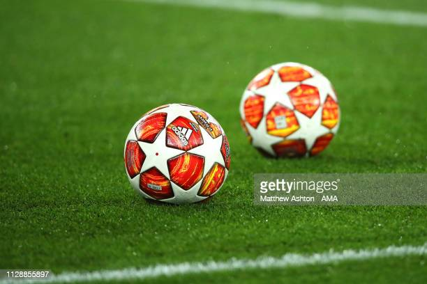 General View of official Champions League adidas Madrid 19 Final match balls prior to the UEFA Champions League Round of 16 Second Leg match between...