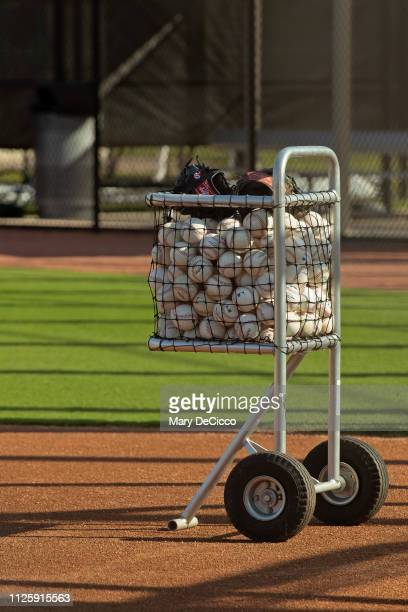General view of official Major League baseballs prior to the Houston Astros spring training workout on Tuesday February 19 2019 at the FITTEAM...