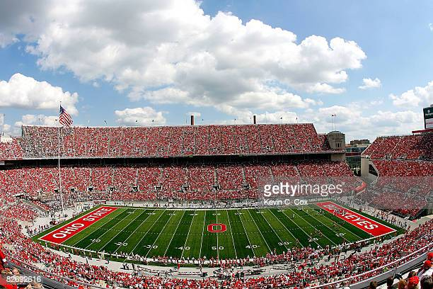 General view of Ohio Stadium during the game between the Ohio State Buckeyes and the Ohio Bobcats on September 6, 2008 in Columbus, Ohio.