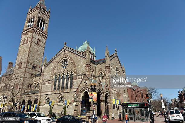BOSTON MA APRIL17 A general view of Old South Church on Boylston Street in Copley Square on April 17 2014 in Boston