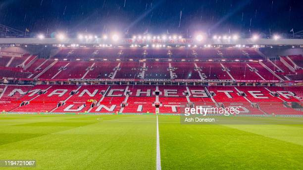 General view of Old Trafford ahead of the Carabao Cup Quarter Final match between Manchester United and Colchester United at Old Trafford on December...