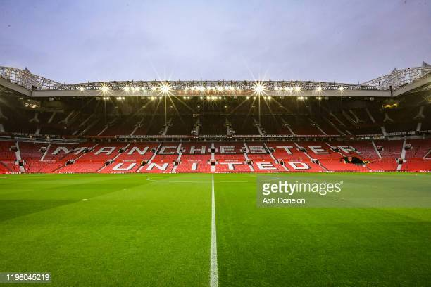 General view of Old Trafford ahead of the Premier League match between Manchester United and Newcastle United at Old Trafford on December 26, 2019 in...