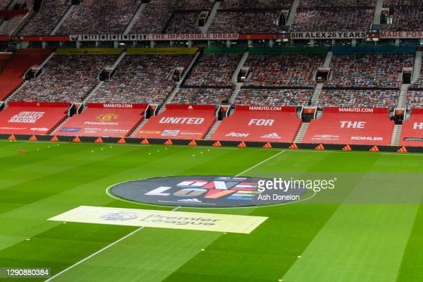 General view of Old Trafford ahead of the Premier League match between Manchester United and Manchester City at Old Trafford on December 12, 2020 in...