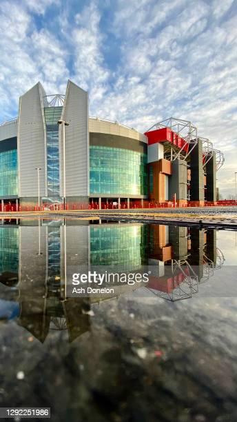 General view of Old Trafford ahead of the Premier League match between Manchester United and Leeds United at Old Trafford on December 20, 2020 in...