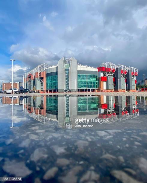 General view of Old Trafford ahead of the pre-season friendly match between Manchester United and Brentford at Old Trafford on July 28, 2021 in...