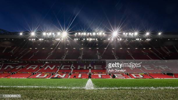 A general view of Old Trafford ahead of the UEFA Europa League round of 32 second leg match between Manchester United and Club Brugge at Old Trafford...