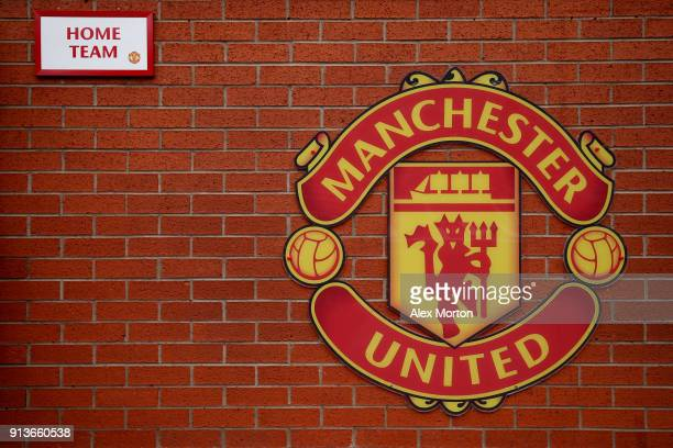 A general view of Old Trafford during the Premier League match between Manchester United and Huddersfield Town at Old Trafford on February 3 2018 in...
