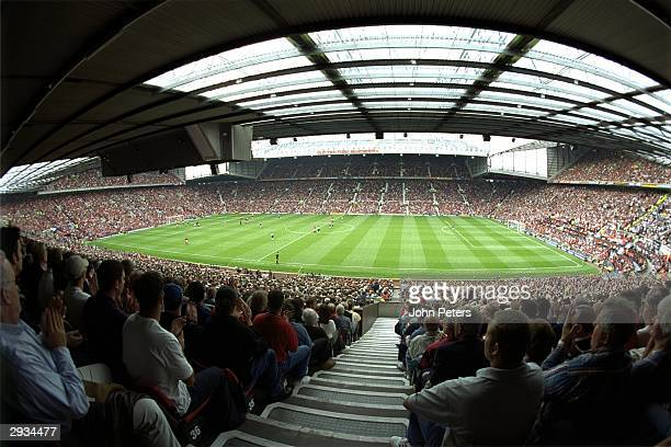 A general view of Old Trafford home of Manchester United during the FA Carling Premiership match between Manchester United v Newcastle United on...