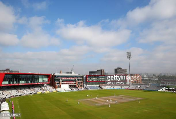 A general view of Old Trafford is seen during the Specsavers County Championship Division Two match between Lancashire and Middlesex at Emirates Old...