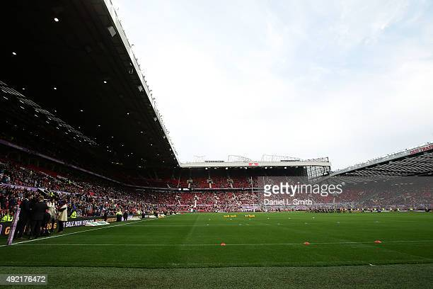 A general view of Old Trafford Stadium prior to the First Utility Super League Grand Final between Leeds Rhinos and Wigan Warriors at Old Trafford on...