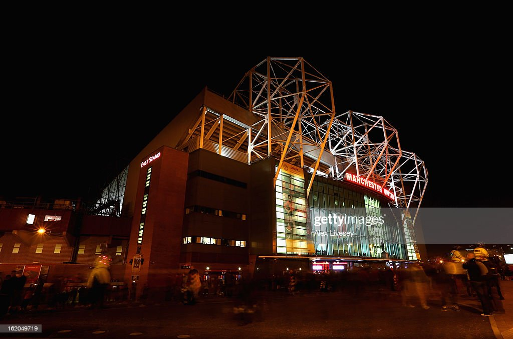 A general view of Old Trafford the home ground of Manchester United is seen prior to the FA Cup Fifth Round match between Manchester United and Reading at Old Trafford on February 18, 2013 in Manchester, England.